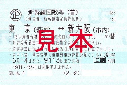 金券ショップ 新幹線 価格