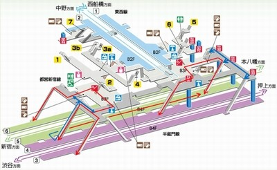 曙橋駅(東京都新宿区) 駅・路線図から地図を検 …