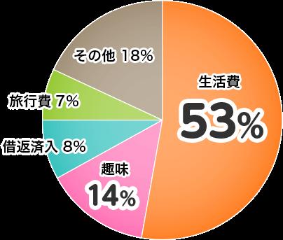 カードローン使い道グラフ
