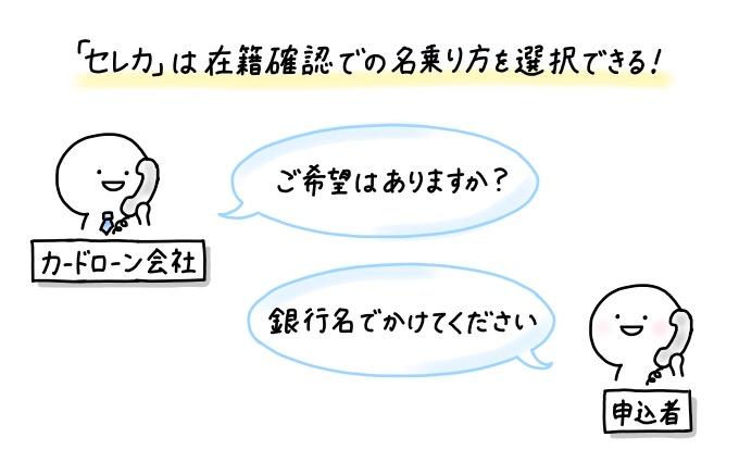 静岡銀行のカードローン「セレカ」は、在籍確認について要望があるか聞いてくれる