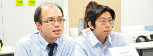 テックウィンド 野嵜氏(左)/QNAP 神崎氏(右)