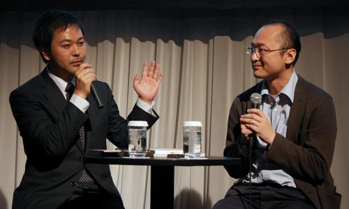 日経Fintech 編集長 原隆氏(左)と瀧氏(右)