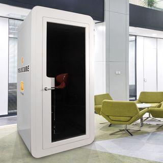 駅/空港にTV会議用電話ボックス!? - ブイキューブとレノボの新製品「テレキューブ」とは?