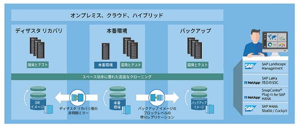 SAP S/4 HANAでのアプリケーションライフサイクル管理のイメージ図