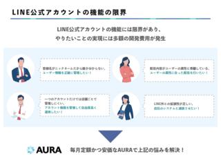 """AURAは、""""LINE公式アカウントでやりたいこと"""" をワンパッケージで提供"""