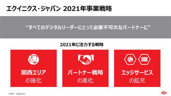 エクイニクス・ジャパンの2021年における事業戦略