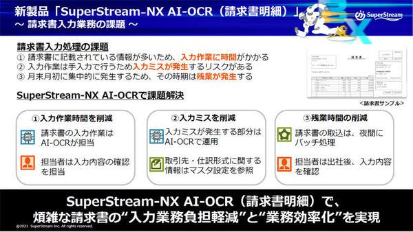 「SuperStream-NX AI-OCR(請求書明細)」は請求書入力業務の課題を解決するという