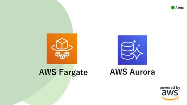 「AWS Fargate」と「AWS Aurora」を活用している