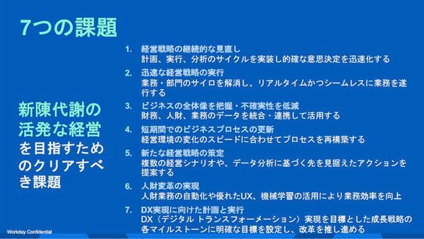 7つの課題
