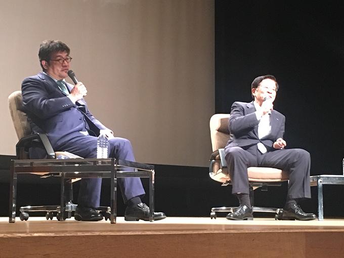 ひふみ投信運用報告会で藤野英人さんと小池利和社長との対談が実現