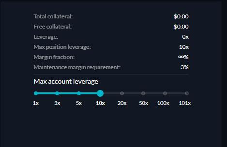 FTXの先物取引のレバレッジ設定