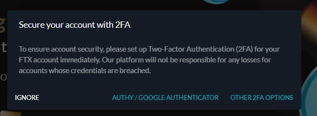 FTXの2段階認証の設定