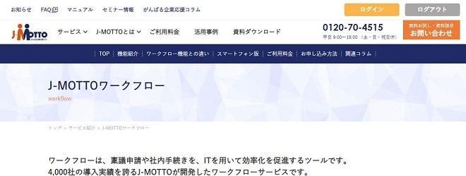 J-MOTTOワークフロー リスモン・ビジネス・ポータル株式会社