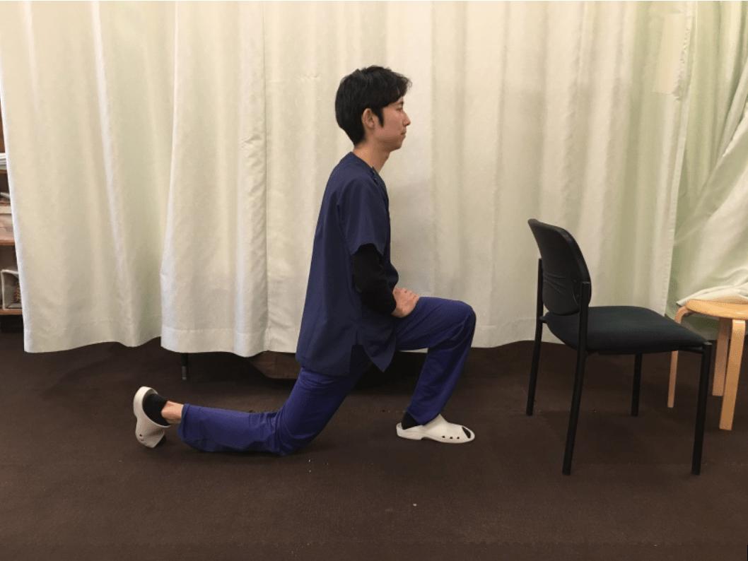 腸腰筋ストレッチの解説画像