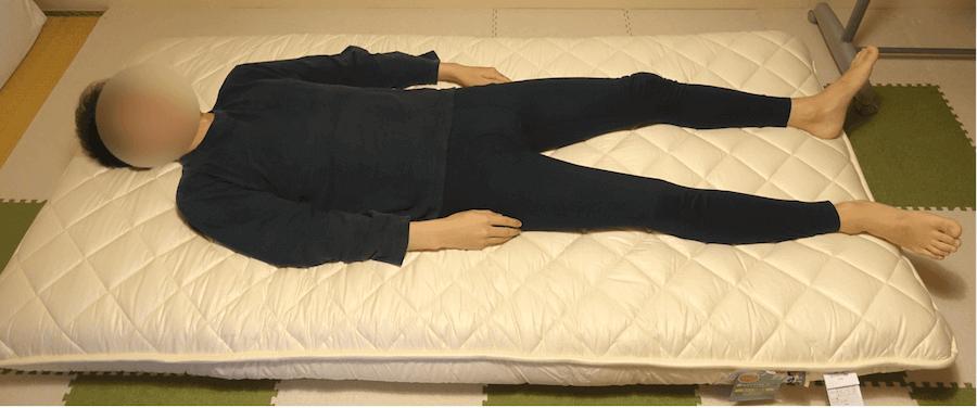 183cmの男性が雲のやすらぎプレミアムに寝てみた全体像
