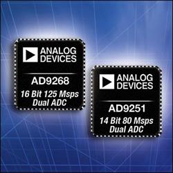ADI、16ビットで125MSPSを実現するデュアルチャネルADCなど18品種を発表