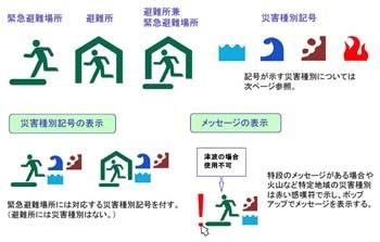 避難所等の地図記号 国土地理院は今後、緊急避難場所と避難所の位置や種別... 国土地理院、避難所