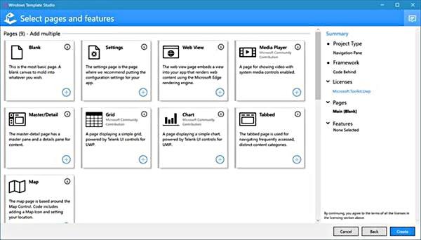 ウィザードやテンプレートを改善した「Windows Template Studio