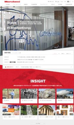 """丸紅公式<a href=""""https://www.marubeni.com/jp/"""" target=""""_blank"""">Webサイト</a>"""