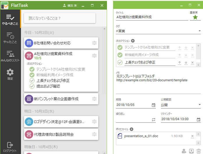 NTTテクノクロス、クラウドベースのタスク管理「FlatTask」