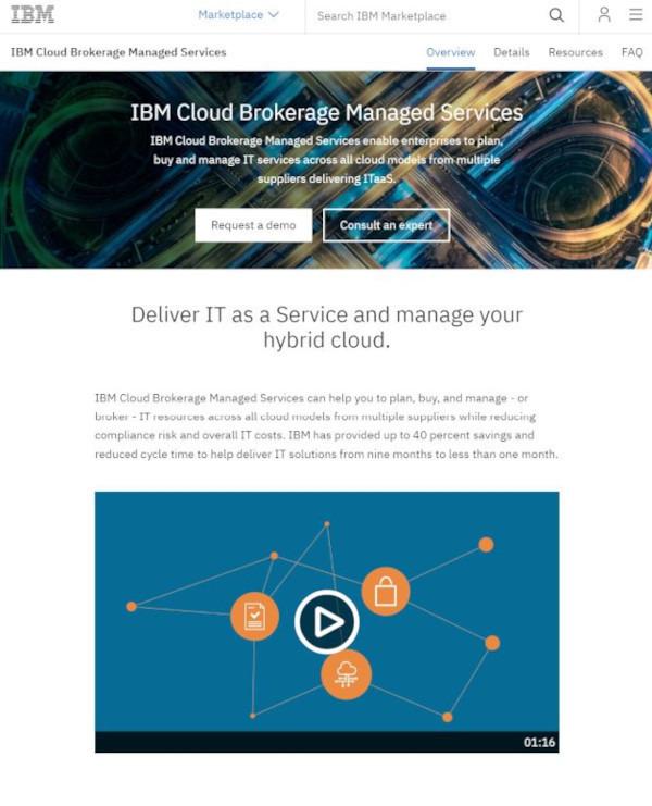 日本IBM、効率的なマルチクラウド活用支援「IBM Cloud Brokerage Services」を11月より順次