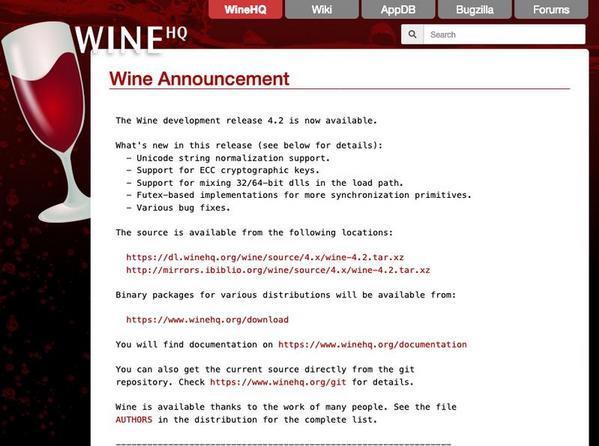 Wine 4 2、Unicode文字列正規化をサポート | マイナビニュース