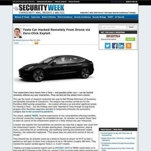 Teslaの自動車をドローン経由でサイバー攻撃する方法、発見
