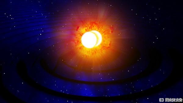 史上初、中性子星合体の重力波の...