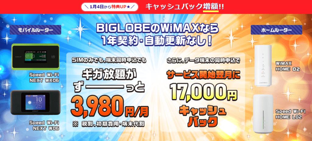 BIGLOBE WiMAX 2+ 画像